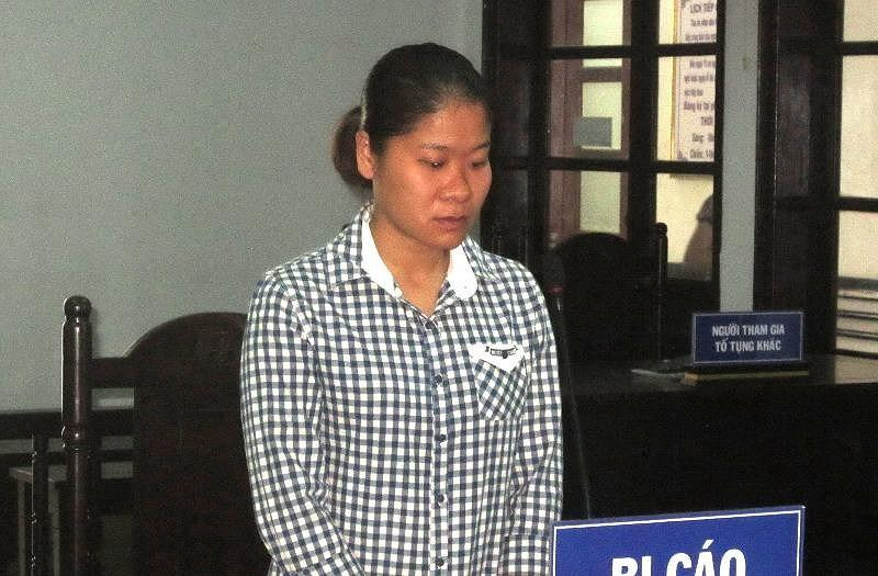 Bị cáo Trang tại tòa