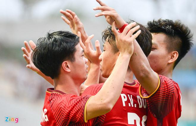 Sự nỗ lực của Olympic Việt Nam đến từ động lực nơi người hâm mộ. Ảnh: Việt Hùng.