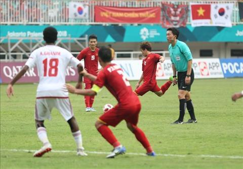 Trọng tài bắt chính trận Olympic Việt Nam bị chỉ trích sau trận đấu với Olympic UAE.