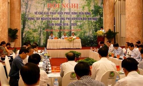 Thủ tướng Nguyễn Xuân Phúc tuyên bố đóng cửa rừng tại Đăk Lăk năm 2016. Ảnh: ĐĐK.
