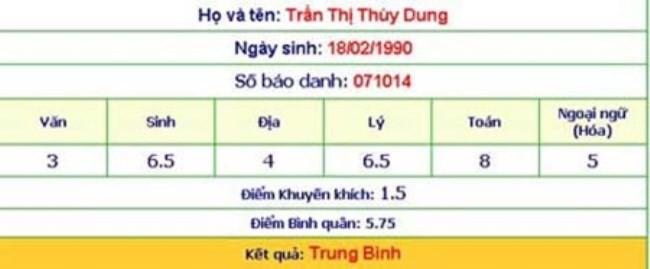 Sau khi đăng quang, Thùy Dung cũng bị chỉ trích vì chưa tốt nghiệp THPT và đã thôi học từ giữa học kỳ 1 năm lớp 12. Trước sức ép dư luận, Thùy Dung quay lại trường và thi lại tốt nghiệp THPT. Song, kết quả kỳ thi này cũng không thực sự thuyết phục được công chúng.