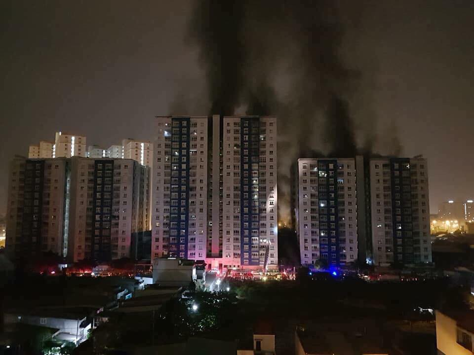 Tòa nhà tại thời điểm xảy ra cháy