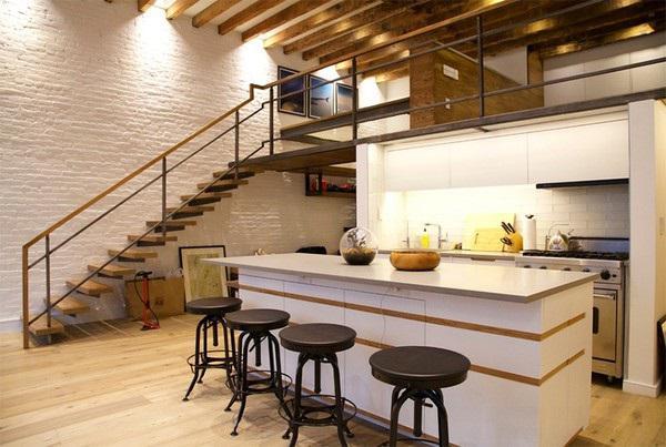 Sự kết hợp giữa nội thất gỗ tinh tế, gam màu chủ đạo trắng sáng và thiết kế gác lửng khiến cho căn nhà cấp 4 này thậtđẹp và nổi bật.