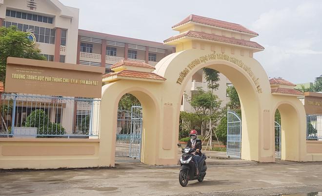 Trường THPT chuyên Huỳnh Mẫn Đạt. Ảnh: Tuấn Anh.