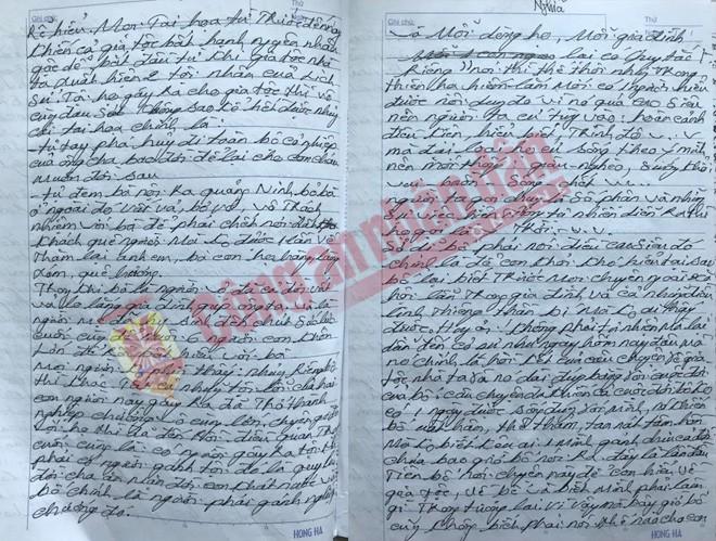 Bức thư dài 35 trang chủ yếu nói chuyện về gia đình của Phạm Đức Sỏi.