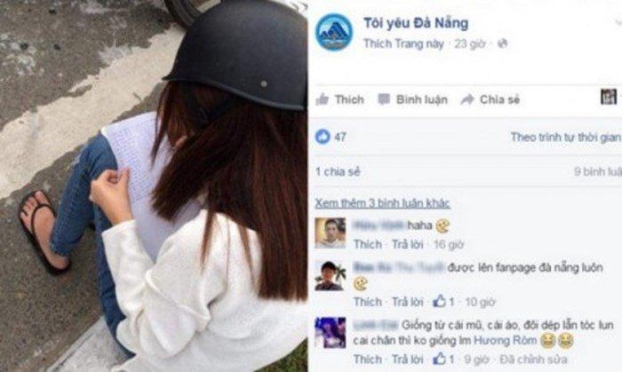 Cô gái chép phạt 20 lần vì đi ngược chiều - Ảnh chụp màn hình Fanpage Tôi yêu Đà Nẵng