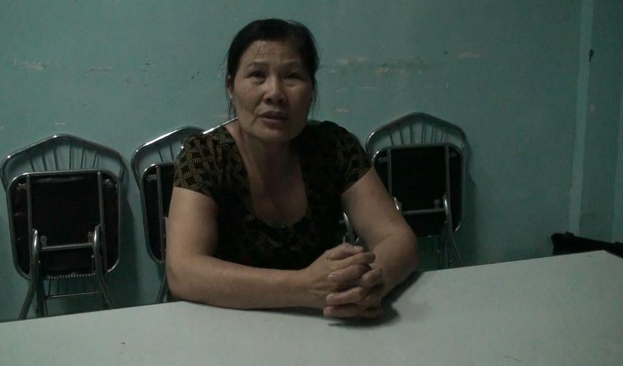 Đối tượng Nguyễn Thị Thùy tại cơ quan điều tra