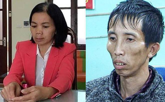 Bùi Kim Thu cùng chồng là Bùi Văn Công tại cơ quan công an.