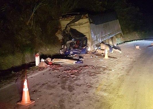 Hiện trường vụ tai nạn khiến 2 người thương vong