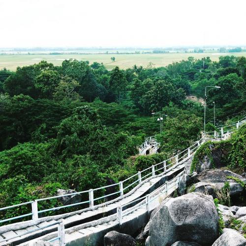 Khu di tích Tức Dụp nằm tại thị trấn Tri Tôn, huyện Tri Tôn, tỉnh An Giang. (Nguồn: Trân Lê)