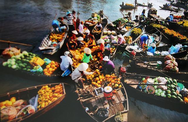 Chợ nổi mang những nét văn hóa đặc trưng của miền Tây. Ảnh: Internet