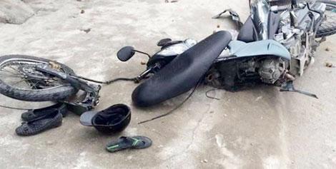 Hiện trường vụ tai nạn (ảnh do người dân cung cấp).