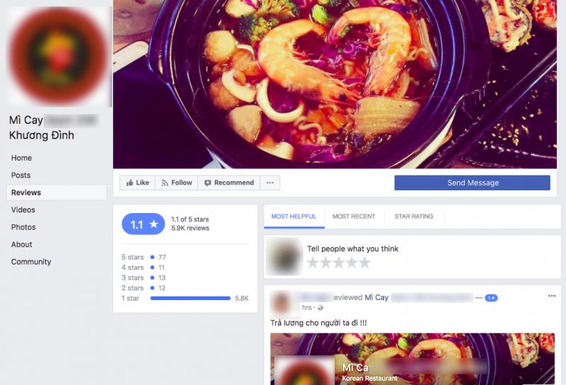 Hiện tại, nhà hàng S. nhận gần 6k review 1 sao - Ảnh chụp màn hình