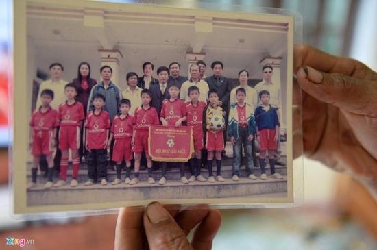Hình ảnh Văn Hậu lúc 10 tuổi