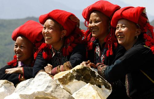 Người dân tộc Dao trên đỉnh Mẫu Sơn