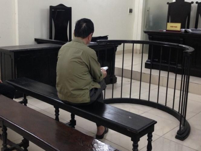 Trịnh Quang Thành tại phòng xét xử.