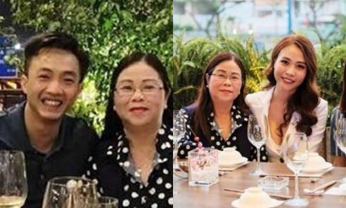 Dịp Tết, Cường Đô La đã gặp gỡ mẹ Đàm Thu Trang tại TP.HCM.