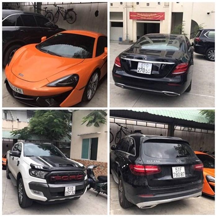 Hàng loạt siêu xe nhiều dân chơi mơ ước mà Hoàng Béo sở hữu. Ảnh: Dân Việt