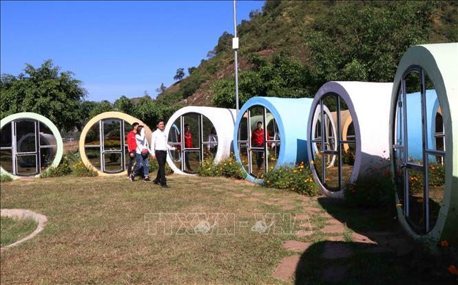 Homestay thiết kế theo kiểu nhà ống tại khu du lịch Happy Land, ở bản Lùn, xã Mường Sang, huyện Mộc Châu, tỉnh Sơn La.