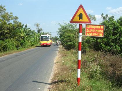 Quốc lộ 57 đi qua xã Phú Phụng huyện Chợ Lách, tỉnh Bến Tre