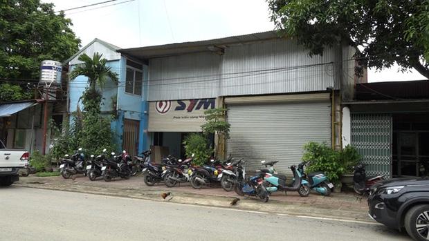 Mặt trước của kho hàng tại số nhà 053 phường Cốc Lếu, Thành phố Lào Cai.