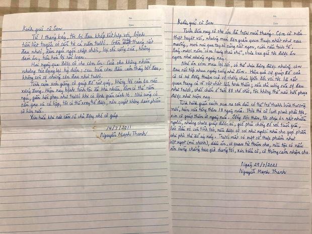 Bức thư tay cảm ơn của người hàng xóm già đang gây bão MXH