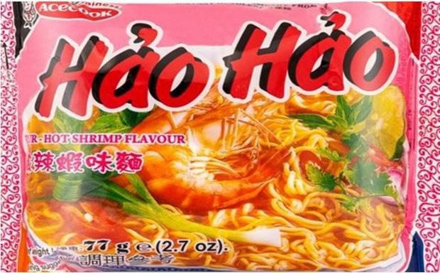 Mì tôm chua cay Hảo Hảo bị thu hồi do chứa chất Ethylene Oxide. (Ảnh: FSAI)