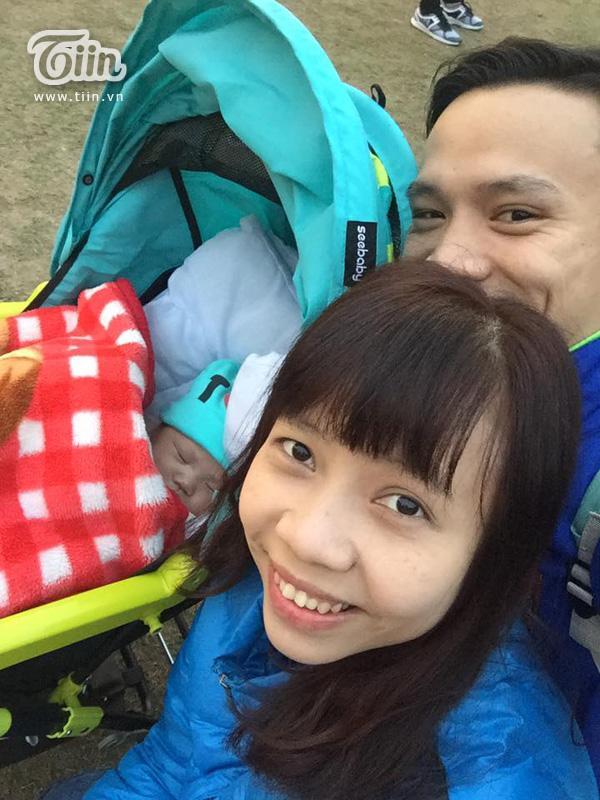 Gia đình nhỏ vui vẻ của anh Minh Trường