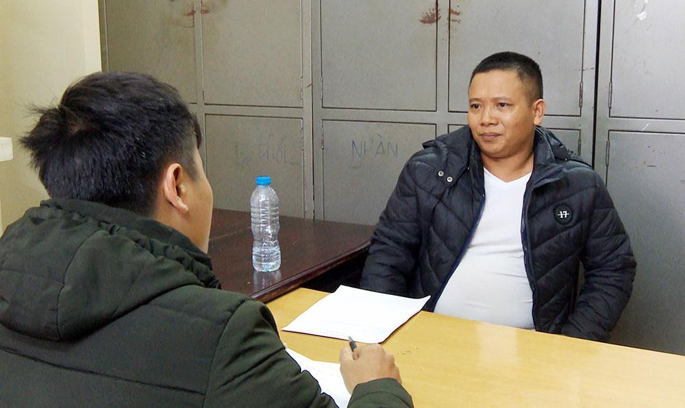 Đối tượng Phạm Văn Tài khi vừa bị bắt giữ