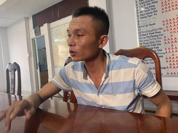 Nghi can Tạ Quang Ngọ tại cơ quan điều tra. Ảnh: báo Vietnamnet.