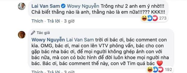 Wowy Nguyễn vỡ oà vui sướng khi được MC Lại Văn Sâm đáp lại tấm chân tình