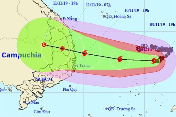 Đường đi của bão số 5