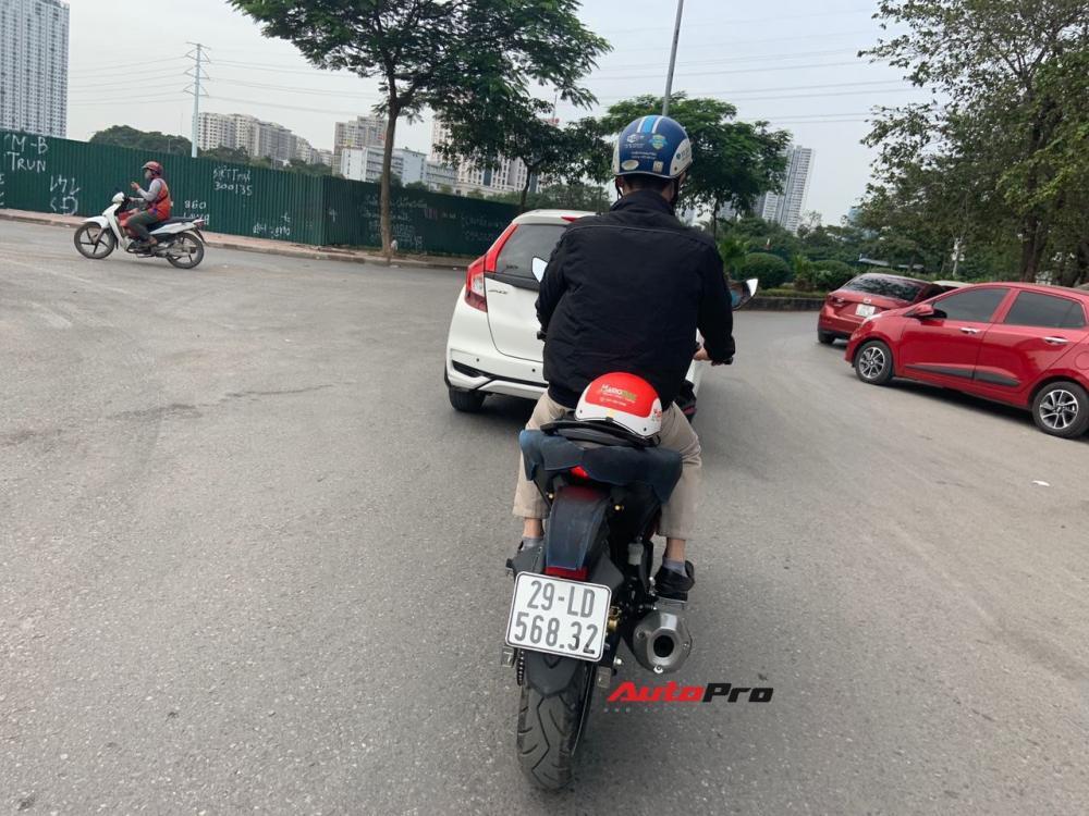 Yamaha Exciter 2021 chạy thử tại Hà Nội hồi giữa tháng 11. Ảnh: Phong Đoàn.