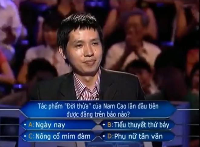 Anh Lê Anh quyết định dừng chơi ở câu hỏi 15.