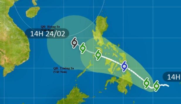 Dự báo đường đi của bão Dujuan trong những ngày tới. Ảnh: HKO.