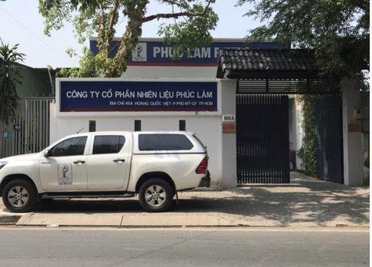 Công ty CP nhiên liệu Phúc Lâm.