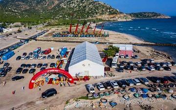 Dự án cảng biển tổng hợp Cà Ná giai đoạn 1 được khởi công vào tháng 8/2020. Ảnh: T.N.