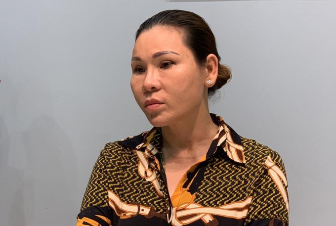 Bà Trà khi bị bắt. Ảnh: Quang Bình.