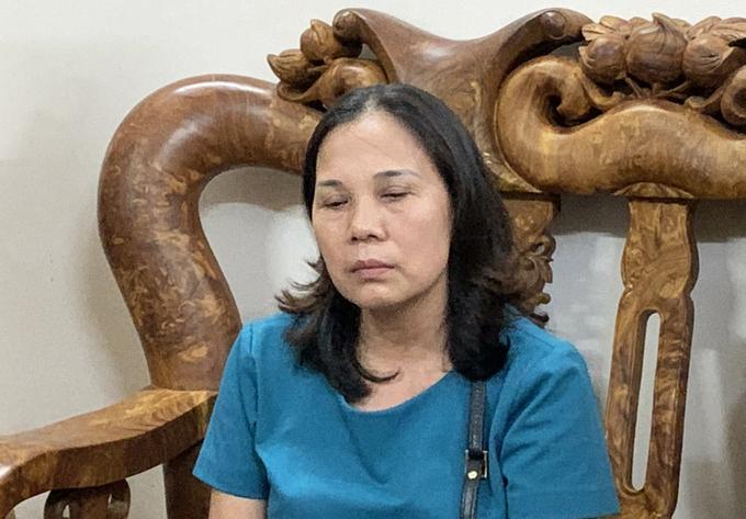 Bà Đặng Thị Tuyết Lan tại nhà riêng trên đường Bình Giã. Ảnh: Quang Bình.