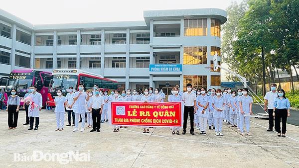 Cán bộ, giảng viên, sinh viên Trường cao đẳng Y tế Đồng Nai xuất quân hỗ trợ công tác phòng chống dịch Covid-19 trên địa bàn tỉnh đầu tháng 7-2021