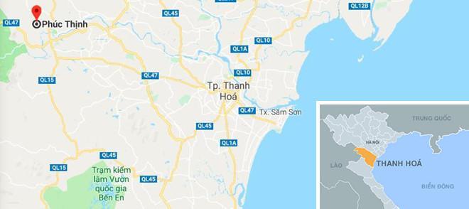 Xã Phúc Thịnh - nơi xảy ra vụ cháy. Ảnh: Google Maps.