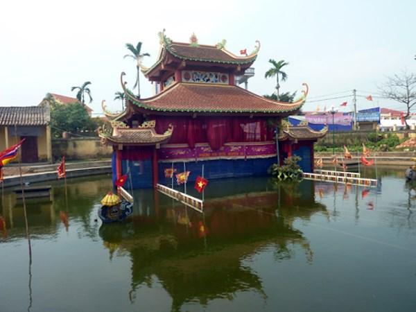 Một góc thủy đình phường múa rối Nguyên Xá (Thái Bình). (Ảnh: Báo Tin Tức/TTXVN)