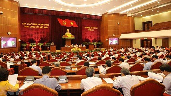 Hội nghị Trung ương 8. Ảnh TTXVN