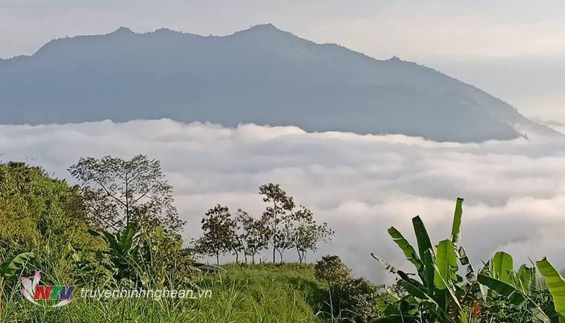 Mây phủ ôm ấp núi tạo nên một cảnh sắc kỳ vĩ tuyệt đẹp khi đi giữa các cung đường trên cao ở Kỳ Sơn.