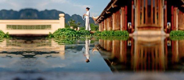 Emeralda Resort Ninh Bình được thiết kế mang phong cách truyền thống Việt Nam. (Nguồn: ivivu.com)