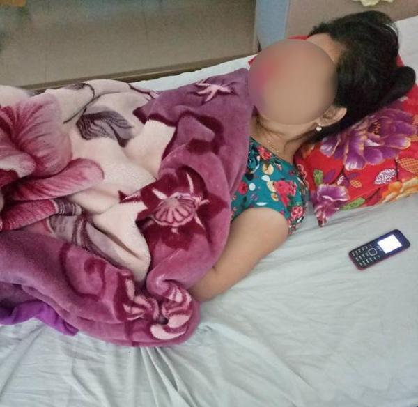 Chị Lương Thị T tại Quảng Ngãi cũng bị mất con do được phát nhầm thuốc