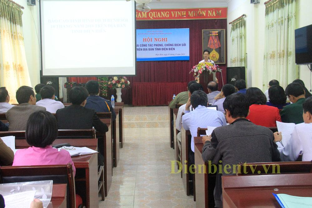 Hội nghị triển khai công tác phòng, chống dịch sởi trên địa bàn tỉnh