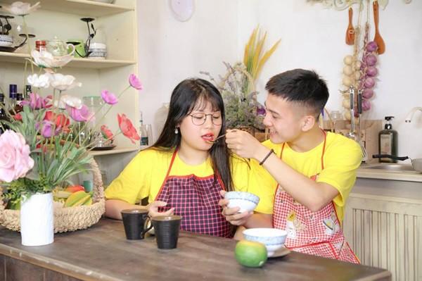 Thu Trang và bạn trai cũ thời còn mặn nồng.