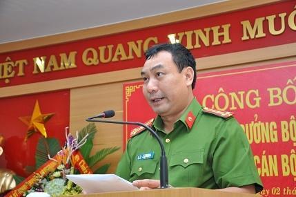 Thượng tá Vũ Đức Khoa - Trưởng Công an huyện Bình Giang, tỉnh Hải Dương.