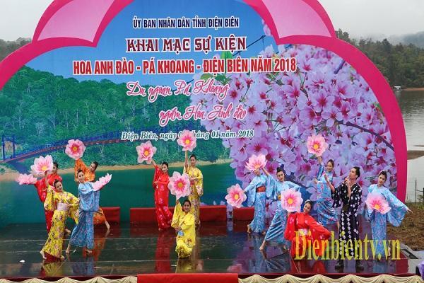 Lễ khai mạc Sự kiện Hoa anh đào - Pá Khoang - Ðiện Biên năm 2018 vừa qua.